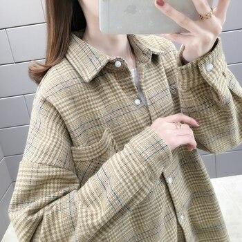 In room 156583, 8 row 2 】 to film a new plaid shirt pocket shirt 45 4