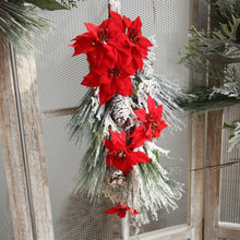 Christmas Ornaments Winter Pine Greens Frosted Cones Christma Wreath Front Door Decorative Accessory Festival Supplies