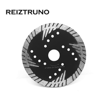 REIZTRUNO 125mm Premium Diamond Turbo Blade with Slant Protection Teeth  For Grinder - Stone Concrete Granite Cutting blades