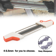 Areyourshop 4mm / 4.8mm / 5.2mm /5.5mm 2 IN 1 Easy Chainsaw File Chain Sharpener Whetstone Kits For Stihl