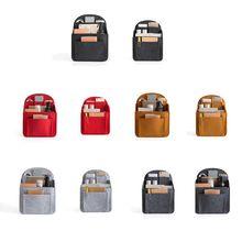 Przenośny filc Storage Organizer wkładka do plecaka plecak torebka torba na ramię nowy 2021 tanie tanio CN (pochodzenie) Felt 35cm Stałe 14 5cm 27cm OPEN moda LP086