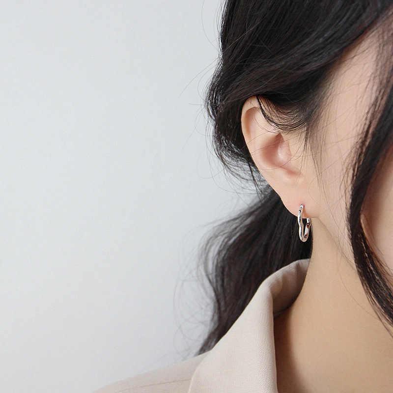 Pendientes De aro De corazón De Plata De Ley 925 para Mujer Pendientes De Plata De Ley 925 Boucles D Oreille Femme 2020 joyería De Mujer