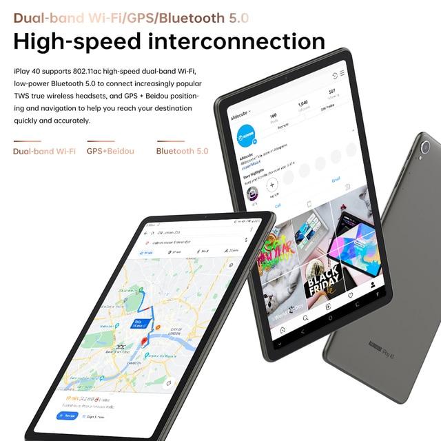 Tablet AlldoCube Iplay40 - Tela de  10.4 Polegadas em FHD - 8GB RAM -  128GB de Armazenamento Interno - Sistema Operacional Android 10  6