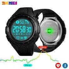 SKMEI Fashion Digital Men Wristwatch Bluetooth Heart Rate Smart Clock Fitness Pedometer Calories