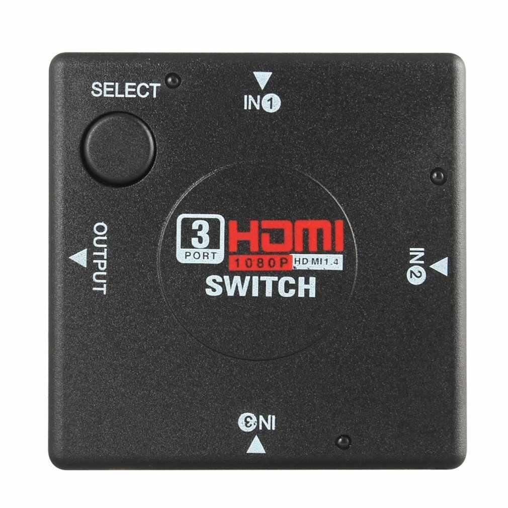 1 Pcs Hdmi 3 Porte Switch Auto Selettore Splitter Switcher Hub Decoder Via Cavo 2160P Per Hdtv Automatico Switcher