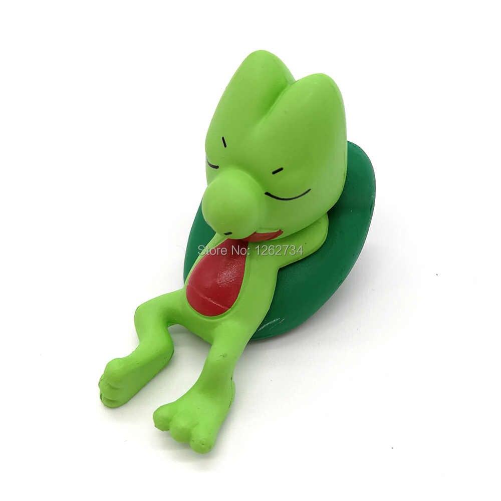 3-5 ซม.Sleeping Pikachu Chespin Fennekin Froakie Dedenne Lucario Mudkip Torchic Goomy Bulbasaur PVC Action FIGURE ขายปลีก