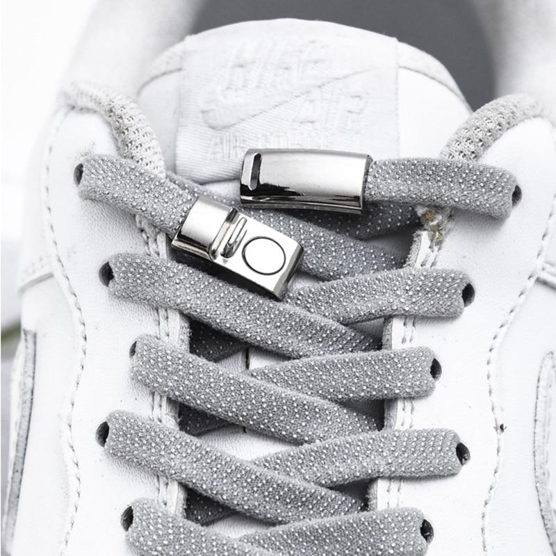 1Pair Magnetic Shoelaces Elastic Locking ShoeLace Creative Quick No Tie Shoe Laces Kids Adult Unisex Sneakers Shoe Laces