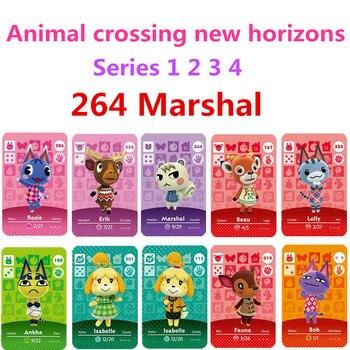 Marshal Animal Crossing Marshal Amiibo 264 Animal Crossing, interruptor Rv, bienvenido Amiibo Villager New Horizons Amiibo Card Series 1-4
