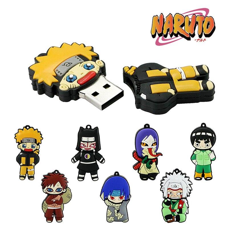 Pendrive Naruto Orochimaru Mini Gift 32GB 256GB 64GB 128GB 8GB 16GB USB Flash Drive Gaara Hokage Ninja Memory Stick Pen Drive