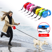3M/5M Retractable Dog Leash Automatic Flexible Dog Leash Dogs Cat Traction Rope Leashes For Small Medium Dogs Pet Product