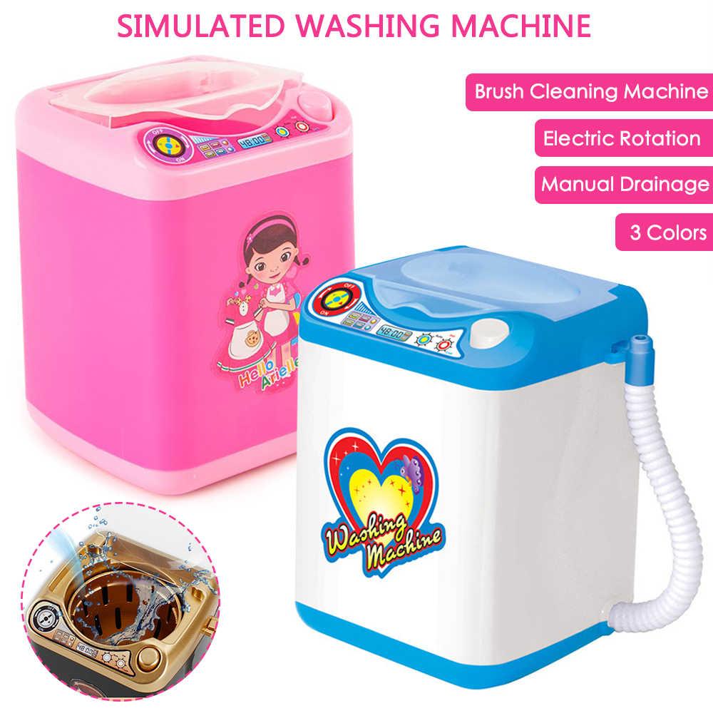 Mini make-up pinsel Waschmaschine Spielzeug Elektrische kinder Pretend Spielzeug Rosa Blau Schwarz Kinder Spielen Haus Spielzeug Mädchen Dirthday geschenk