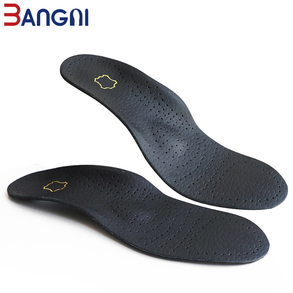 3ANGNI Men/Woman Orthotic Arch Support Shoe Insert  Flat Feet Insoles For Shoes Comfortable Cowskin Shoe Orthopedic Insole