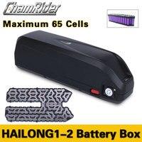 E-bike Elektrische fahrrad batterie box fall SSE-077 HaiLong Unten Rohr unterrohr USB 5V reduktion Ausgang 10S 6P 13S 5P Nickel streifen