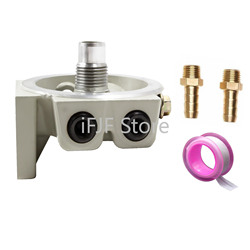 R12T Fuel Filter Base NPT ZG1/4-19 with 2 Fittings & 2 Plugs Replacement for 120AT S3240