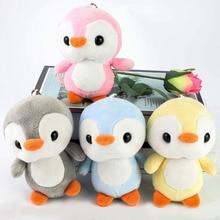 Toys Sitting Keychain Plush-Toy Penguin-Doll Stuffed-Cat-Doll Gift Cute Girl Xmas 1pc