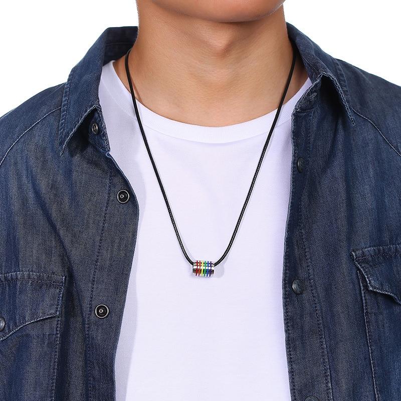 men lgbt necklace (8)