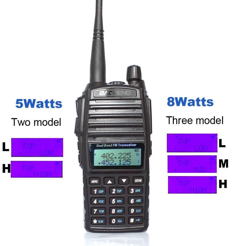 Radio portátil caliente Walkie Talkie Baofeng UV-82 Radio de dos vías de doble botón PTT Vhf Uhf Baofeng de doble banda UV 82 UV82 radio de dos vías