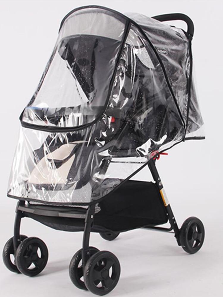 Stroller-Accessories Raincoat Dust-Shield Pushchairs Baby Waterproof Wind Zipper Open