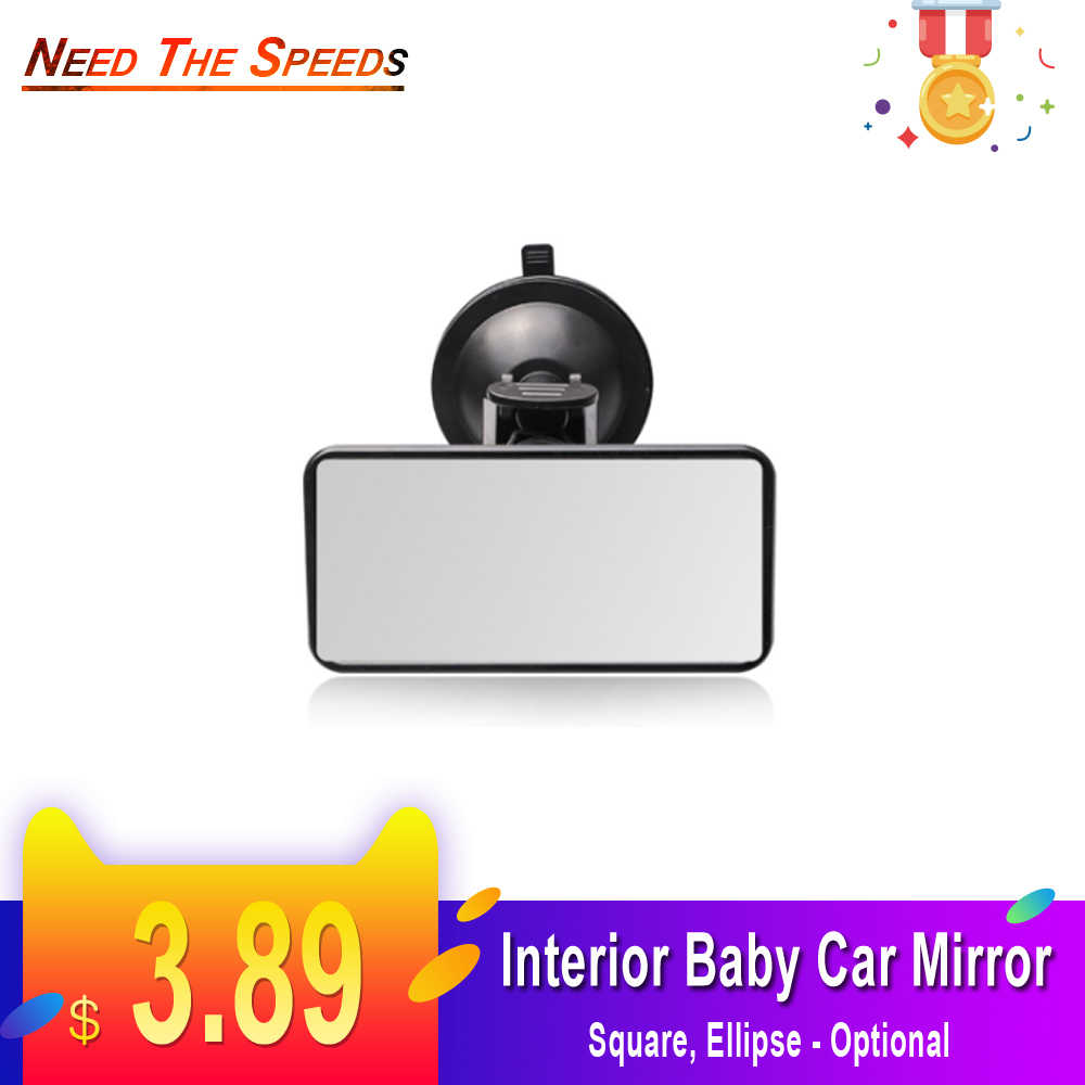 Car Interior Rear View Mirror Suction Cup Wide Angle Interior Rearview Mirror Large Vision Flat Mirror Car Accessories