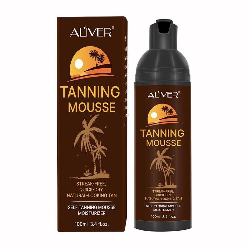100ml Body Self Tanners Cream Tanning Mousse Medium Skin Care Solarium Cream Bronzer Face Body Nourishing Skin Sun Block Makeup
