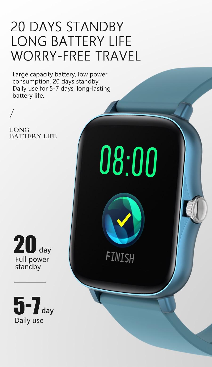 H42ef5f5b125a487fa4e538c34a1156faG Full Touch Y20 Sport Smart Watch Men Women IP68 custom dial Heart Rate Fitness Tracker Smartwatch wristwatch GTS 2 P8 plus