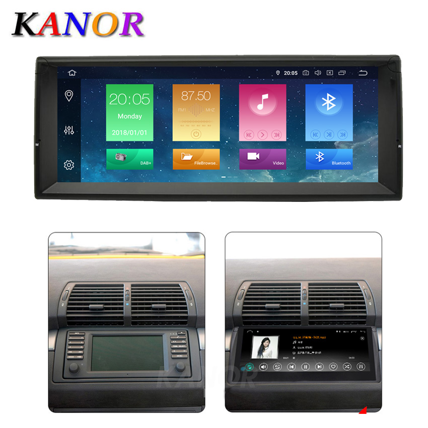 1280*480 <font><b>10.25</b></font> inch <font><b>Android</b></font> 9.0 Car Multimedia system For <font><b>BMW</b></font> E39 E53 X5 E38 With Autoradio Stereo GPS Navigation System Radio image