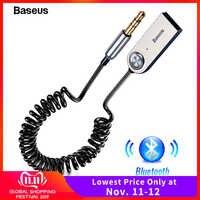 Baseus USB Bluetooth adaptador Cable de dongle para coche 3,5mm Jack Aux Bluetooth 5,0 4,2 4,0 receptor altavoz Audio música transmisor