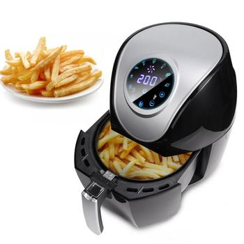 цена на 5L Air Fryer LED Touch Screen Timer Temperature Control Chicken Oil free Air Fryer Multifunction Electric Deep Fryer 220V 1500W