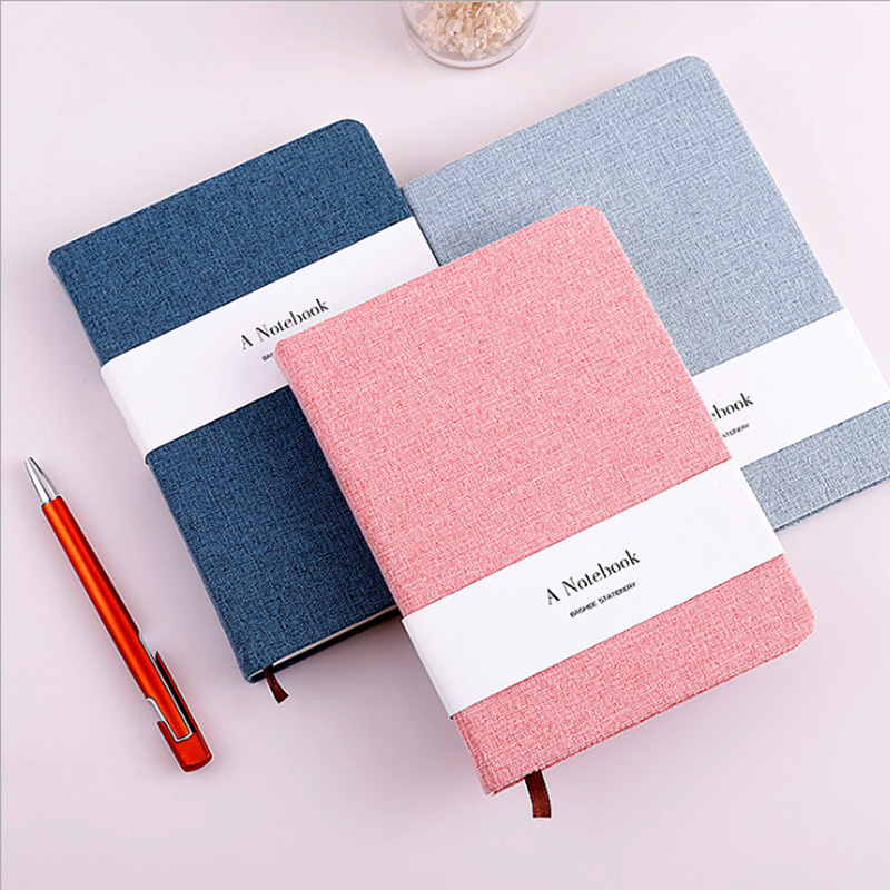A5 A6 Kawaii Flower And Tree Poetry And Remote Cloth Notebook Blank Horizontal Line Note Handbook School Supplies