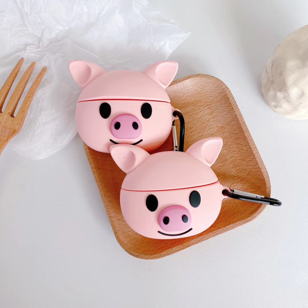Lovely cartoon For Apple AirPods Pro case Pig animal Accessories silicon case For Airpods 3 Air podsPro Bluetooth Earphone Cover