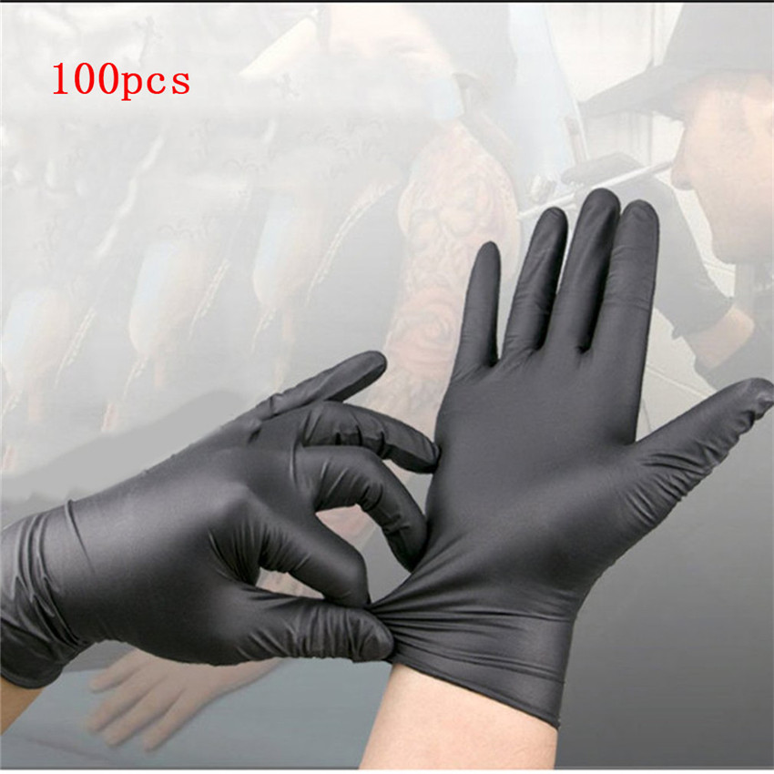 Disposable Black Pces Household Cleaning Washing Gloves Nitrile Lab Nail Art Gloves 100 Medical Tattoo Antistatic  20PCS/100PCS