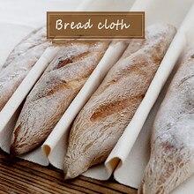 Francês fermentado algodão pano de prova de linho massa bakers panelas provando pão baguette cozimento esteira pastelaria cozinha ferramentas