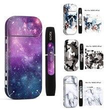 Galaxy adesivo impressão pele para iqos adesivo impressão pele para iqos etiqueta 2.4 plus 2.4 p e-cigarro capa caso