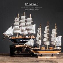 Украшение стола, домашняя деревянная модель парусника, лодка, декор для рабочего стола, ремесло, черный жемчуг, корсаир, парусные лодки, рожд...