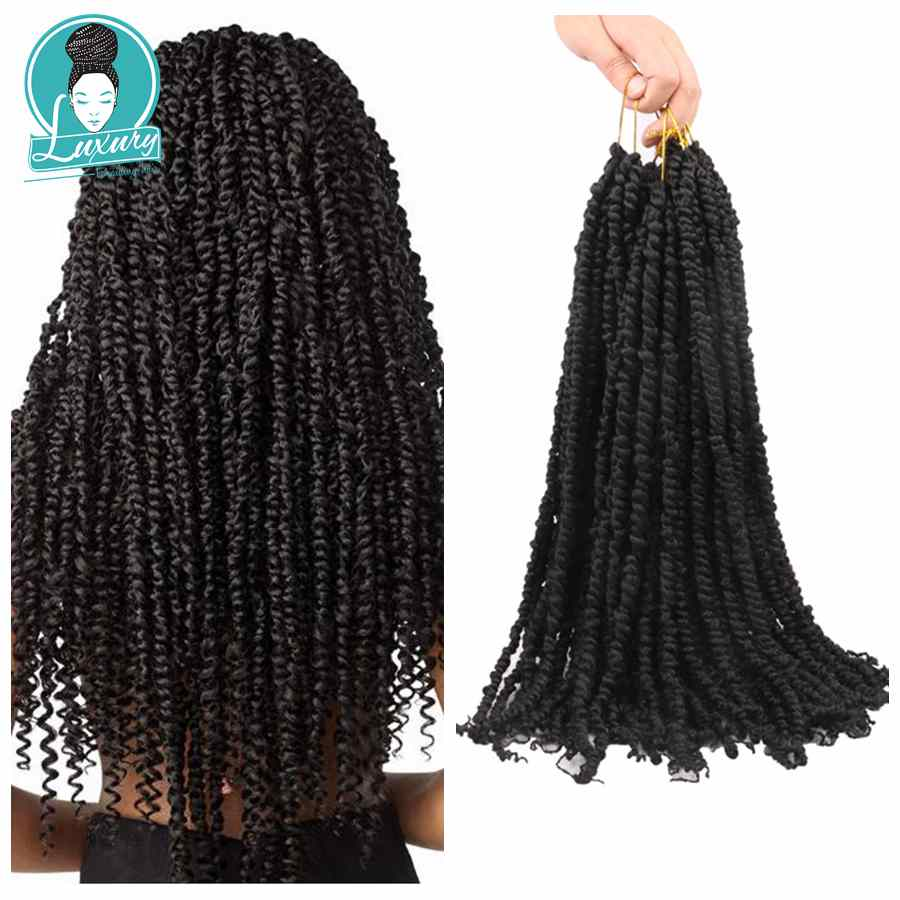 Luxury 18inch 20strands Per Piece 100grams Synthetic Ombre 27 Bur Pre Looped Twisted Passion Twist Crochet Braids