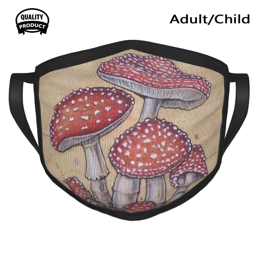 Warm Diagram Toadstool Heart Face-Masks Amanita-Muscaria Anatomy Soft