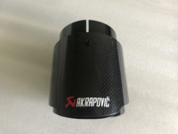 1 PC Carbon Fiber Bright carbon black Akrapovic Car Exhaust Tips Muffler Pipe Covers For X5