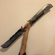 Długość 1 1m Thanos dwustronny miecz Cosplay Endgame Thanos akcesoria Thanos Gauntlet gadżety na Halloween tanie tanio LISM Other Kategoria miecz broń Diecast 6 lat Unisex