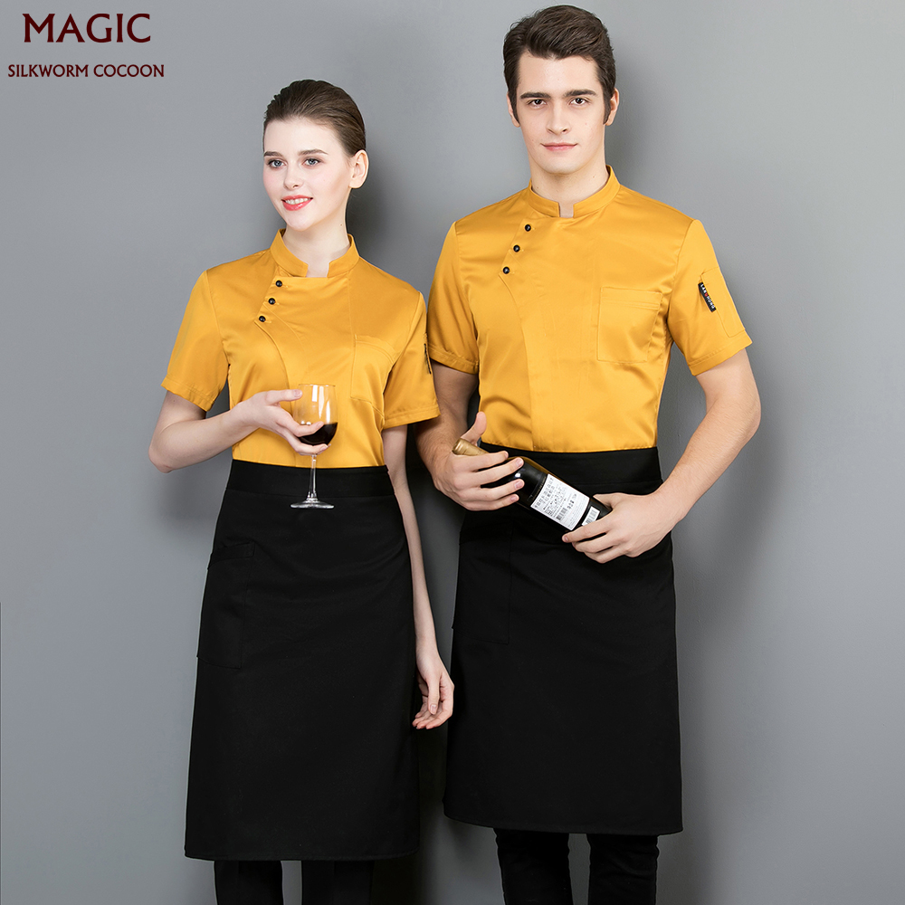 Unisex Restaurant Uniform Catering Services Cafe Waiter Workwear Cook Jackets Uniforms Aprons Chef Restaurant Uniform Chef Shirt