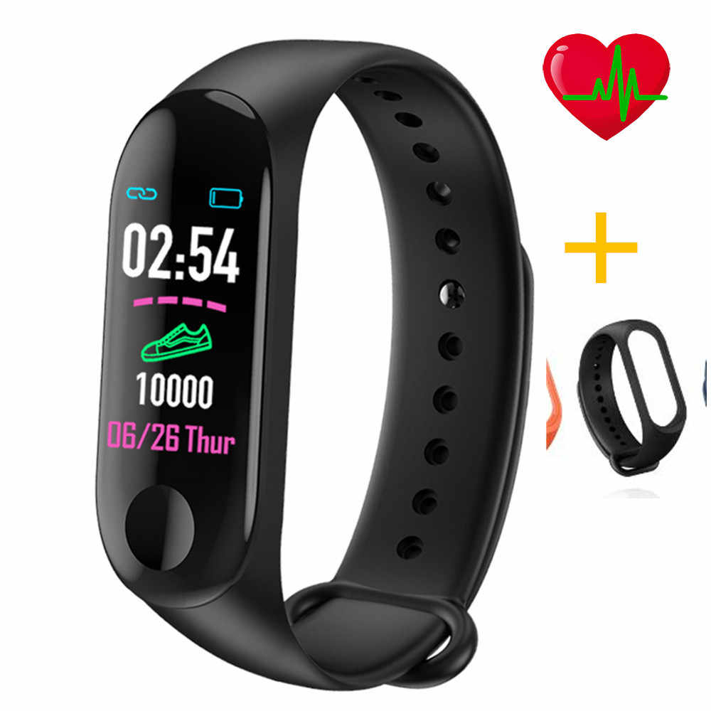 Low prices M3 Plus Smart Bracelet Wristband Heart Rate Monitor Blood Pressure Fitness Tracker Life Waterproof Smart Wristband