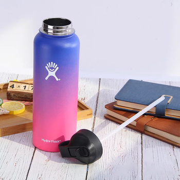Hydro Flask 18oz/32oz/40oz Vacuum Flask Insulated Thermos Stainless Steel Straw Water Bottle Wide Mouth Sport Travel Bottles 4