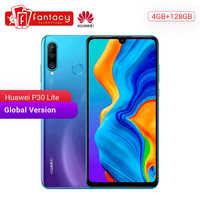 Version mondiale Huawei P30 Lite 4GB 128GB Smartphone 24MP Triple caméras 32MP caméra frontale 6.15 ''plein écran Kirin 710 18W QC