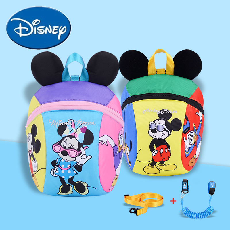 Disney Harnesses Leashes Andador Para Bebe Toddler Cartoon Anti Lost Bag Baby Baby Walker Safety Harness Backpack