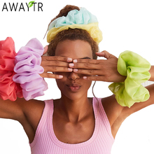 AWAYTR 17.5cm Oversized Scrunchies Big Rubber Hair Ties Elastic Hair Bands Girs Ponytail Holder Women Headband Hair Accessories