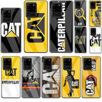 Funda de teléfono de cristal templado con logotipo de Caterpillar para Samsung Note 10 Lite S20 Plus Ultra A51 A71 A81