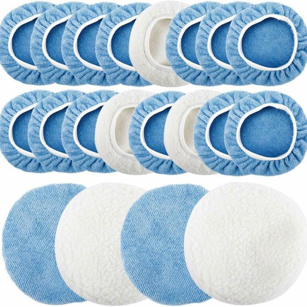 tampao de polimento bonnets almofada microfibra capa superfine absorcao de agua