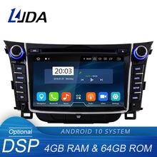 Ljda android 10.0 leitor de dvd do carro para hyundai i30 elantra gt 2012 2013 2014 2015 2016 2 din rádio do carro gps estéreo multimídia áudio
