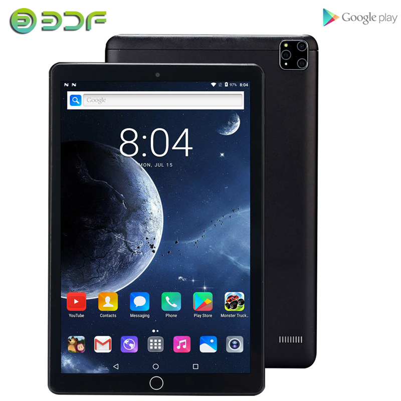 Latest 2020 Tablets 10.1 Inch Android 7.0 3G Phone Call 32GB Quad Core Wi-Fi Bluetooth 4.0 Dual SIM Super Memory Tablet PC