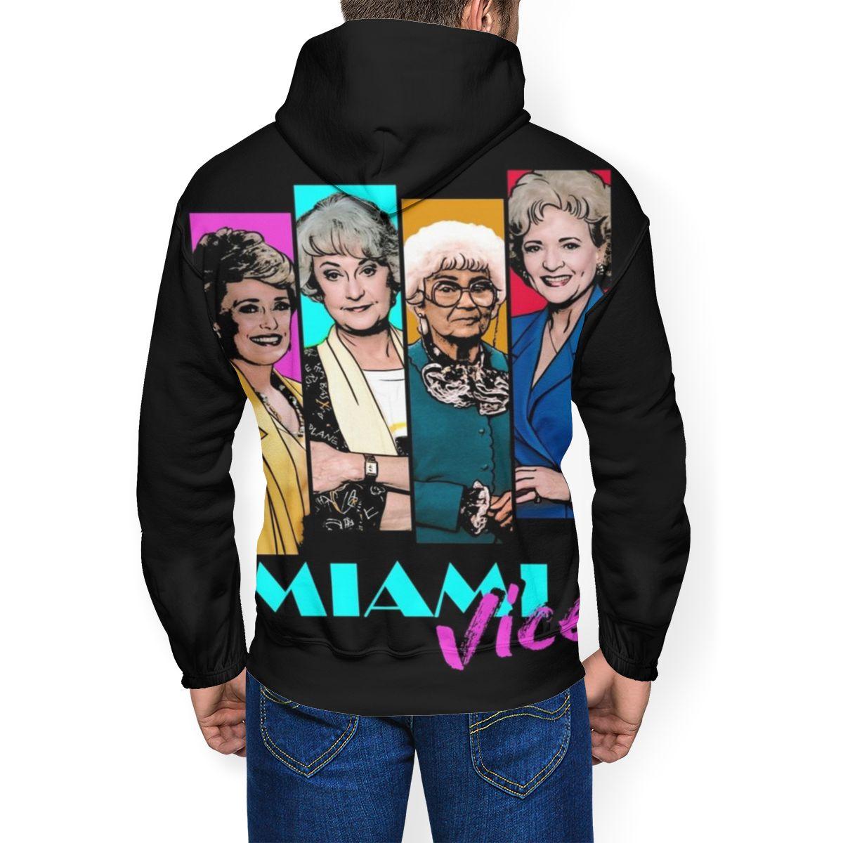 Image 3 - Golden Girls Hoodie Miami Vice Hoodies Oversize Long Length Pullover Hoodie Outdoor Polyester White HoodiesHoodies & Sweatshirts   -