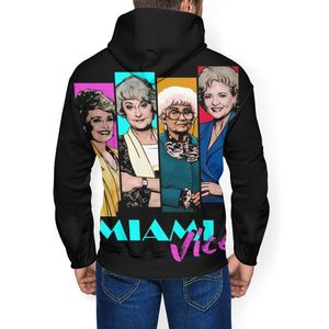 Image 3 - Golden Girls Hoodie Miami Vice Hoodies Oversize Long Length Pullover Hoodie Outdoor Polyester White Hoodies